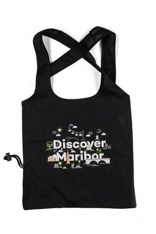 Discover Maribor schwarze Einkaufstasche