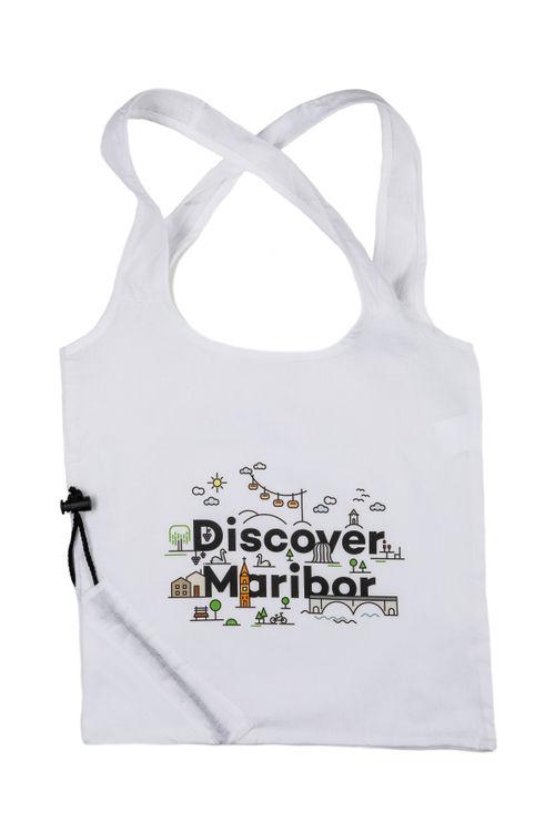 Discover Maribor Einkaufstasche (Weiß)