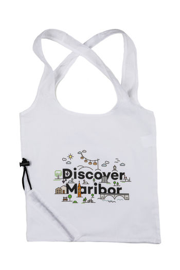 Vrečka Discover Maribor (bela)
